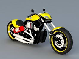 Harley-Davidson Softail Slim 3d model