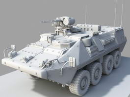 Wheeled Armored Vehicle 3d model