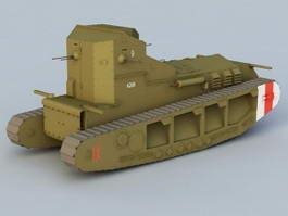 British Whippet Tank 3d model