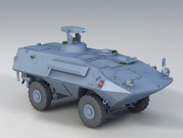Mowag Piranha Vehicle 3d model