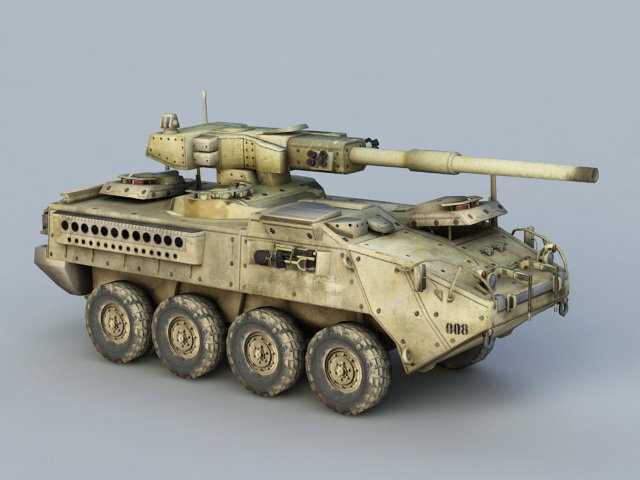Self-Propelled Howitzer Artillery 3d model