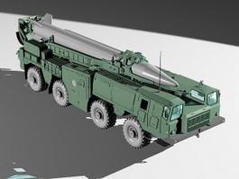 Scud B Missile Launcher Truck 3d model