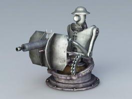 Automatic Turret 3d model