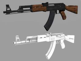 AK-47 Assault Rifle 3d model