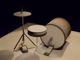 Basic Drum Set 3d model