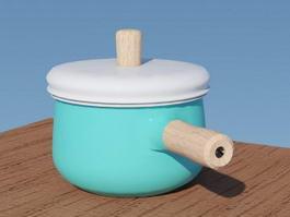 Ceramic Saucepan 3d model