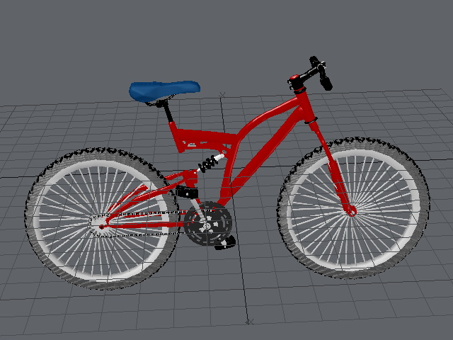 Mountain Bike Bicycle 3d model