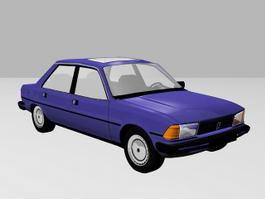 Classic Sedan Car 3d model