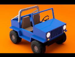 Cartoon Jeep 3d model