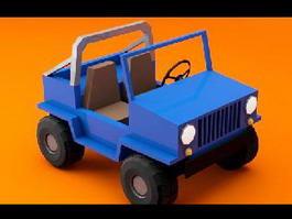 Cartoon Jeep 3d preview