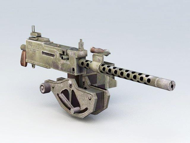 30 Caliber Machine Gun 3d model
