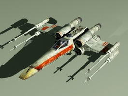 X-Wing Starfighter Rig 3d model