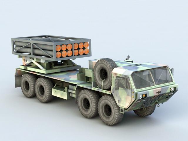 Mobile Missile Launcher Truck 3d model