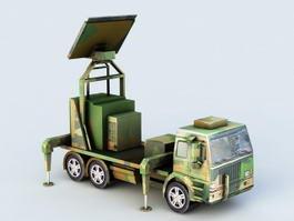 Military Radar Truck 3d model