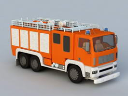 Fire Fighting Vehicle 3d model