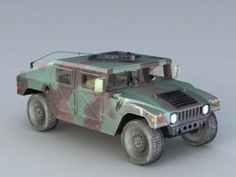 Humvee Military Vehicle 3d model