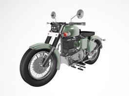 Vintage Motorcycle 3d model