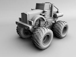 Farm Tractor 3d preview