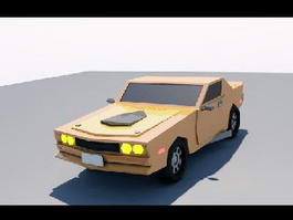 Cartoon Muscle Car 3d model