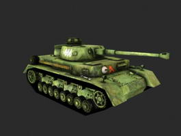WW2 German Tank 3d model