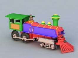 Cartoon Steam Engines Train 3d model