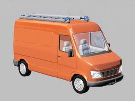 Small Rescue Truck 3d model