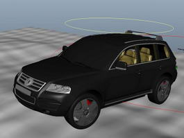 Animated Black Car 3d model
