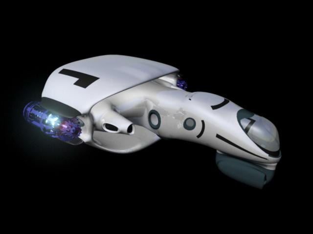 Sci-Fi Ship 3d model