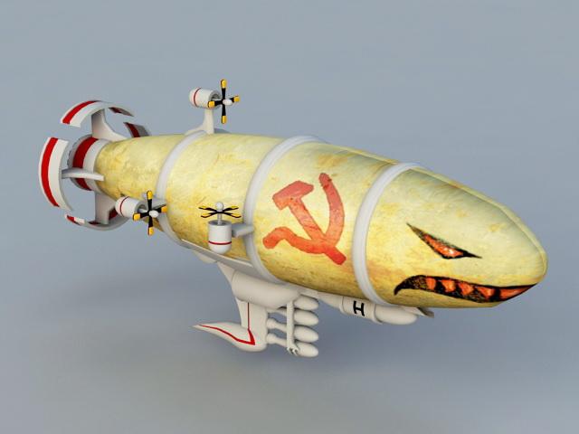 Red Alert Kirov Airship 3d model