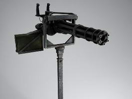 Minigun Machine Gun 3d model