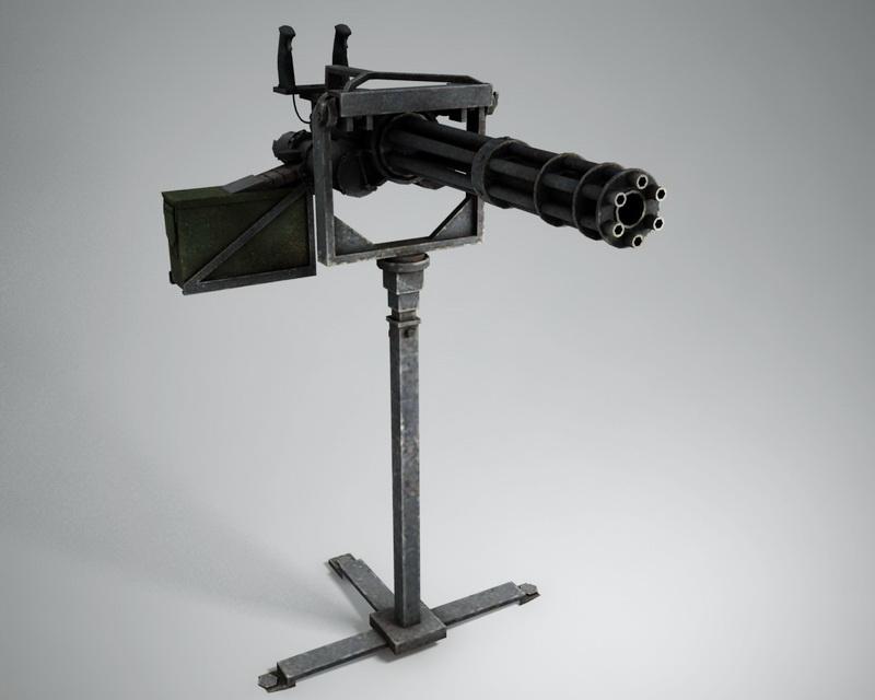 Minigun Machine Gun 3d model