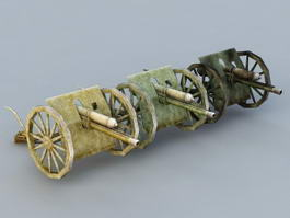 Civil War Cannons 3d model