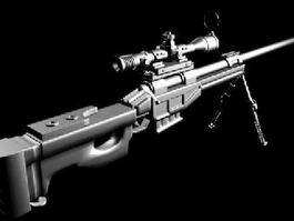 Chinese Forces LR4 Sniper Rifle 3d model