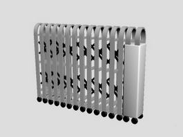Retractable Folding Gate 3d model