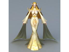 Elf Woman Hero 3d model