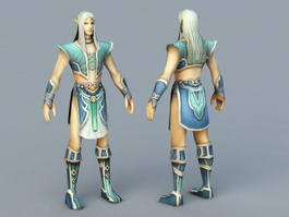 Anime Male Elf 3d model