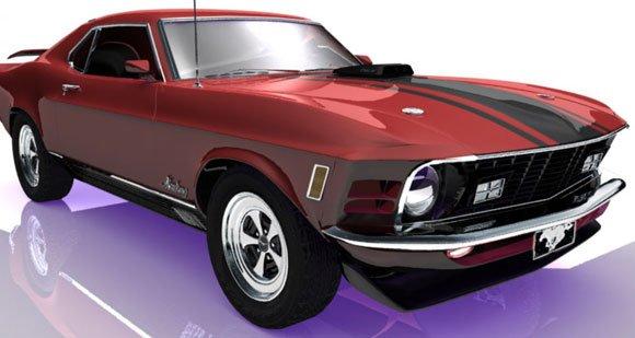 3dSkyHost: 1970 Ford Mustang 3D Model