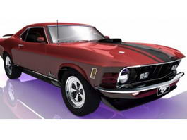 1970 Ford Mustang 3d model
