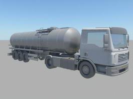Oil Tanker Truck 3d model
