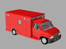 Small Fire Truck 3d model
