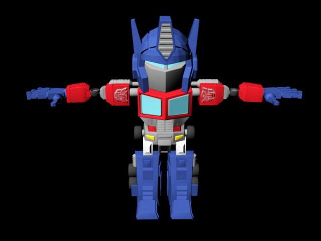 Classic Transformers Optimus Prime Rig 3d model