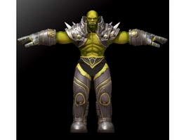 Male Orc Warrior 3d model