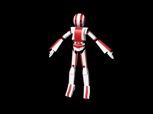 Cute Humanoid Robot 3d model - CadNav