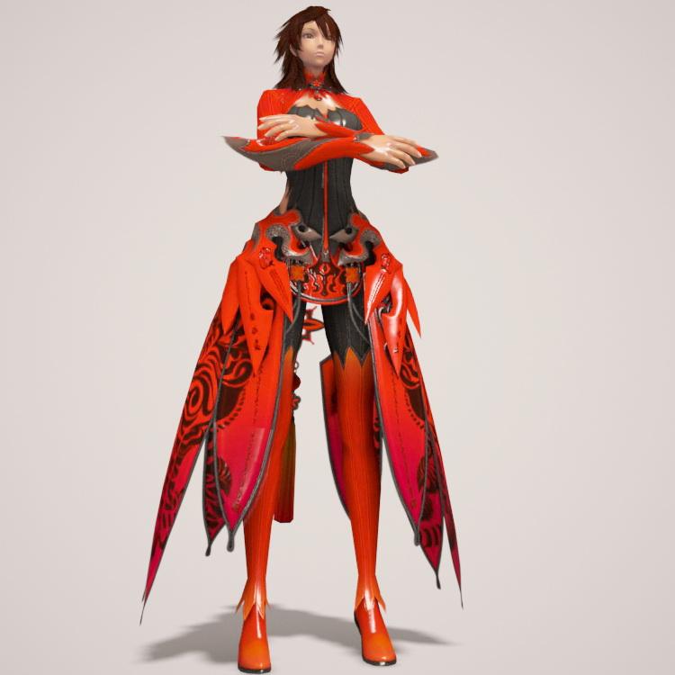 Dragon Girl Rig 3d model