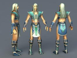 Young Male Elf 3d model