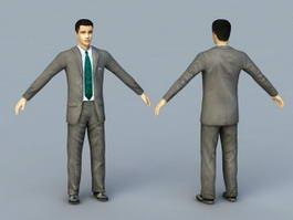Young Businessman Rig 3d model
