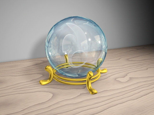 Crystal Ball 3d model Maya files free download - modeling