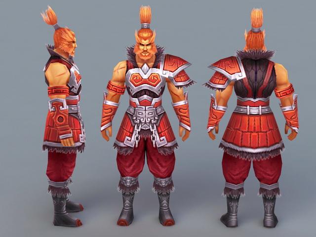 Male Barbarian Warrior 3d model