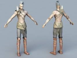 Male Barbarian Hunter 3d model