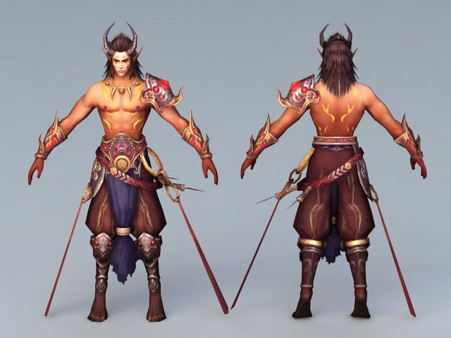 Ancient Barbarians Warrior 3d model